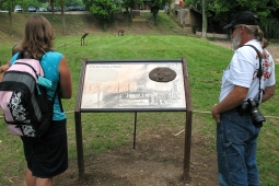Wayside exhibit in June 2009