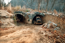 Intake tunnel excavation in 1998